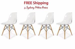 SALE - Eames Style Transparent DSW Dining Chair (Set of 4) Zetland Inner Sydney Preview