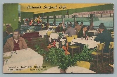 Rosand's Seafood Cafe SEATTLE Vintage Ballard Restaurant—Ray's Fishing Resort