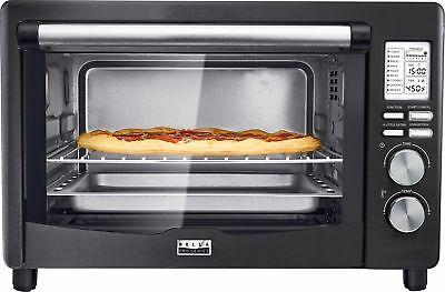 pro series 6 slice toaster oven black