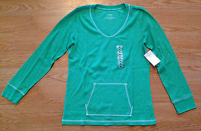 NWT Women's LIZWEAR Green Pullover Long Sleeve Shirt Top Size Small S