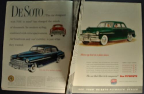 1949 DeSoto Plymouth People & Places Magazine Brochure Nice Original 49