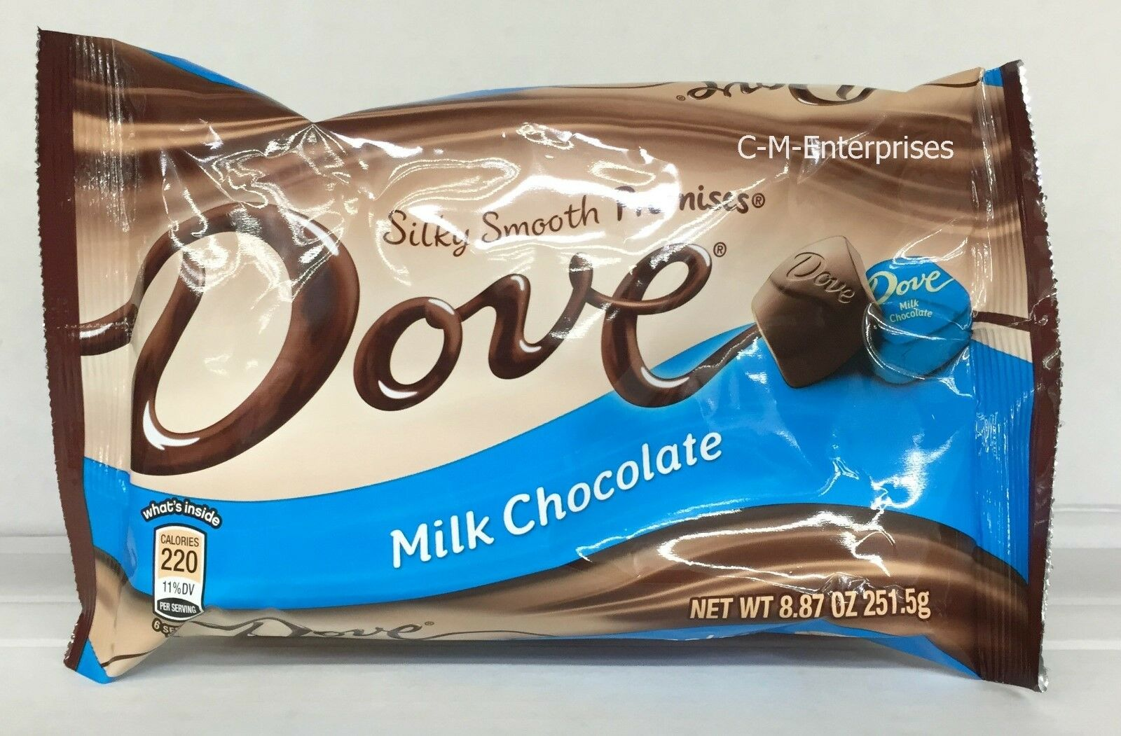 dove milk chocolate silky smooth promises chocolate candy 8.