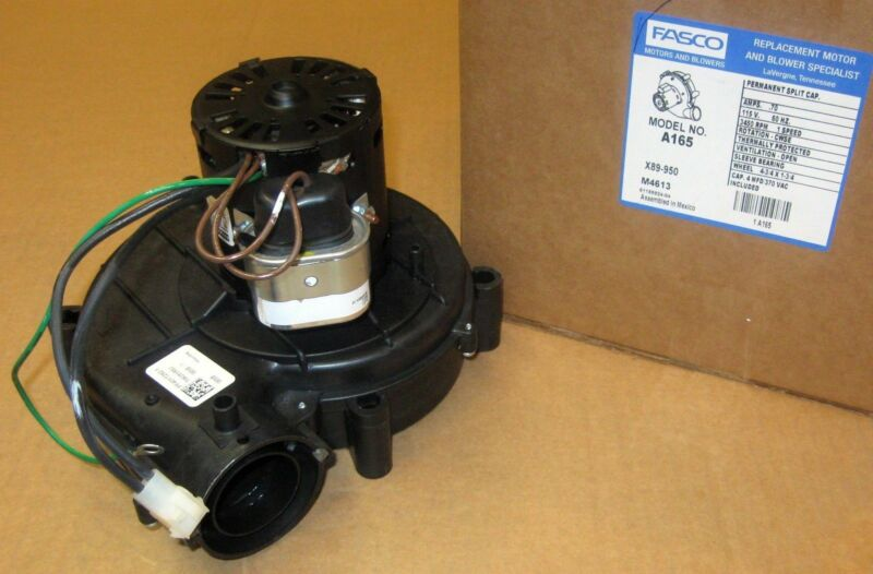 Fasco A165 Furnace Draft Inducer Motor for York 7062-3958 024-25960-000
