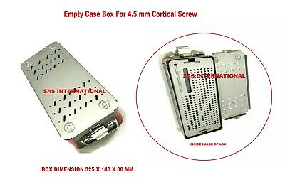 Orthopedic Empty Case Box For 4.5 Mm Cortical Screw Surgical Instruments