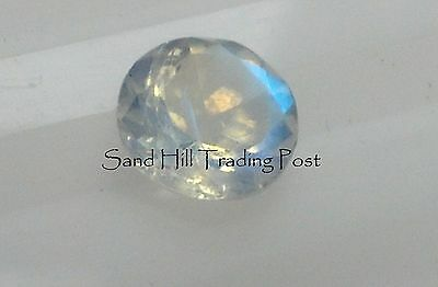 Natural 3mm Loose Round Cut .21ct Rainbow Moonstone AAA