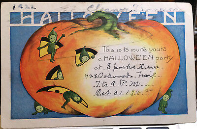 Green Elves, HALLOWEEN Post Card '22 JACK O LANTERN, HALLOWEEN PARTY INVITE](Post Halloween Party)