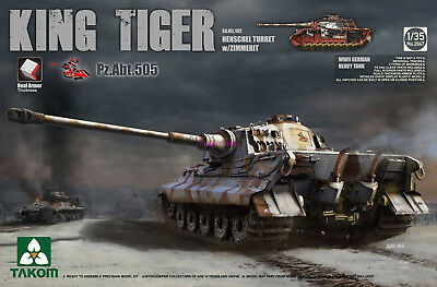 Takom 2047 1/35 Sd.Kfz.182 King Tiger Henschel Turret w/Zimmerit Pz.Abt.505