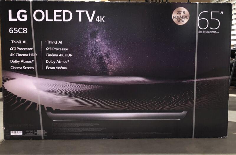 "Lg Oled65c8p 65"" 2018 Oled 4k Uhd Hdr Smart Tv Thinq With Bundle"