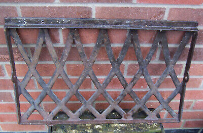 Vintage cast iron slight curved back seat/chair section 23.3/4 x 15