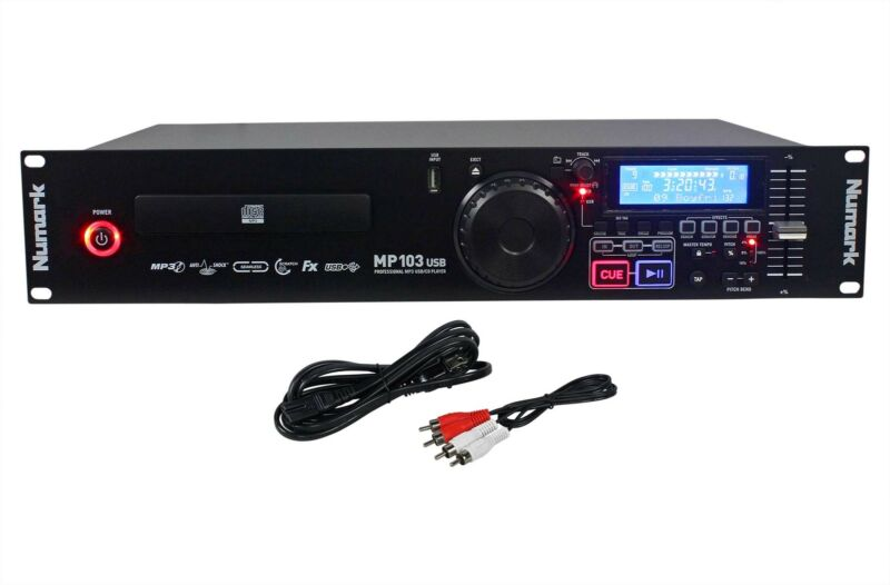 Numark MP103USB Professional Rack Mount DJ CD/MP3 Player With USB Input