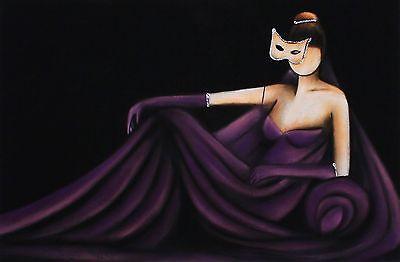 "PASCALE BIGOT ""Tentation"" woman ball gown SGD LIMITED! SIZE:29cm x 42cm NEW RARE"
