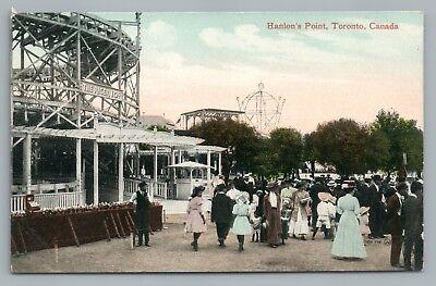Hanlons Point Amusement Park  The Rager  Roller Coaster Toronto Antique 1910S