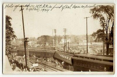 1924 Michigan Central Railroad train crash Kalamazoo photo postcard RPPC history for sale  Grand Rapids