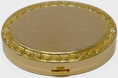 Gold Oval Border Print Pocket Purse Portable Pill Box (2 Compartments) ()