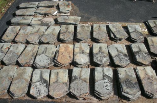 Over 400 Beautiful Antique Original Slate Shingles From Old 1800