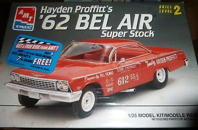 AMT 6760 1962 CHEVY FS BEL AIR HAYDEN PROFFITT SUPER STOCK Model Car Mountain - Stock Model Air