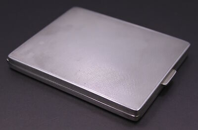 "Antique ""S.F"" .925 Sterling Silver Hinged Fine-Weave-Style Cigarette Case ~ #836"