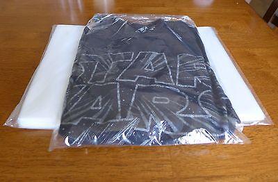 100 - 9 X 12 Poly Clear Plastic T-shirt Apparel Bags 1 Mil 2 Back Flap Lock