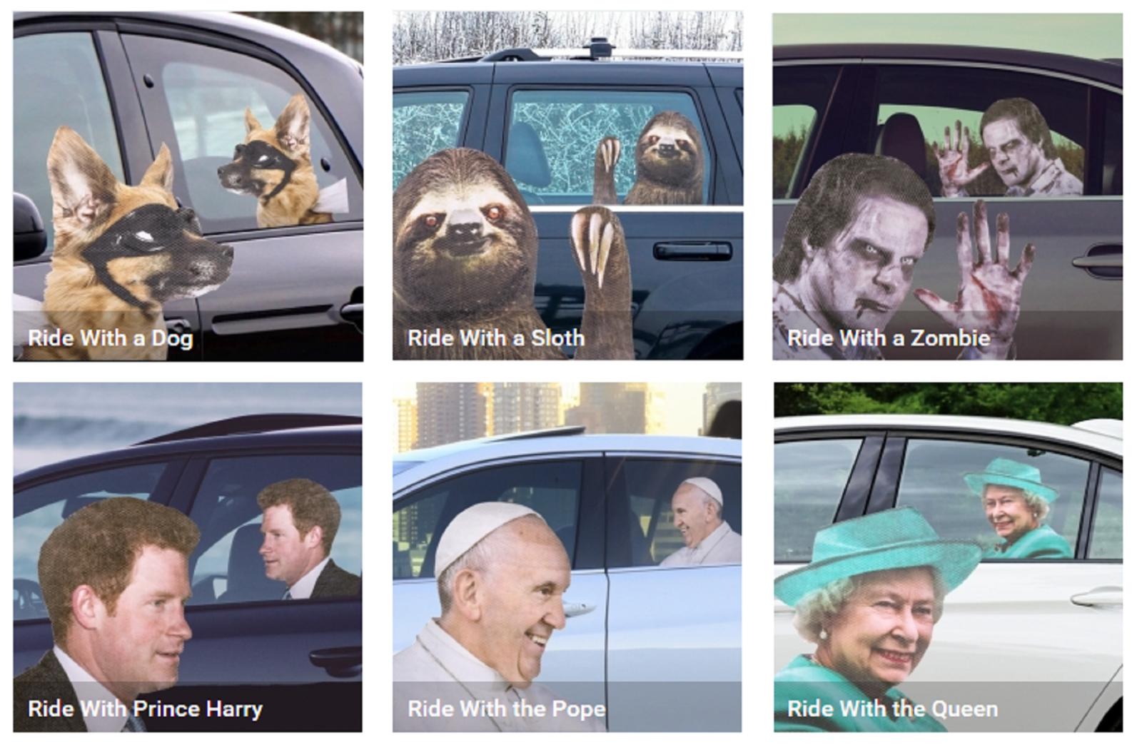 Neuheit Tiercharakter Ride mit Fensteraufkleber Horror Spass Trick Glas