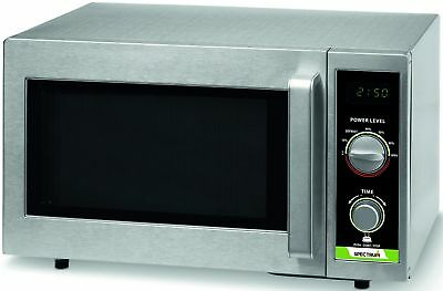 Winco Emw-1000sd 1000w Dial Spectrum Commercial Microwave Stainless Steel