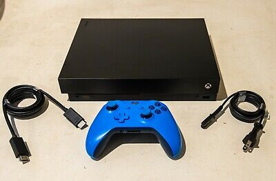 Xbox One X Black 1TB Console w/ Controller, Cables, Model 1787 *ADULT OWNED*