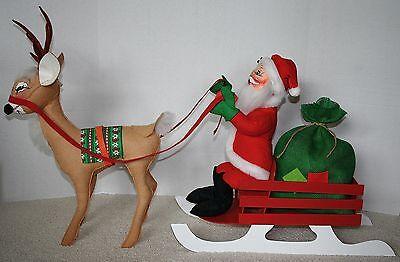 Annalee RARE Reindeer Vintage Santa's Wreaths PHOTOS | eBay
