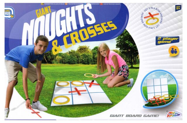 grafix giant noughts and crosses indoor outdoor family kids party