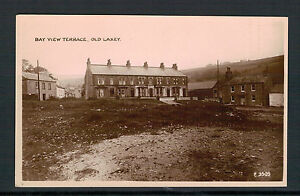 ISLE OF MAN. BAY VIEW TERRACE.OLD LAXEY OLD REAL PHOTO POSTCARD