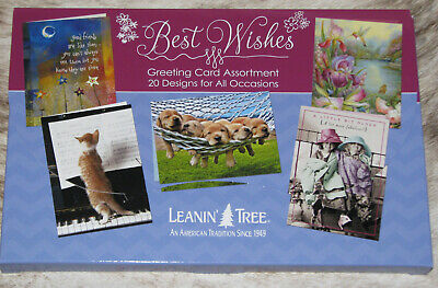 LEANIN TREE Best Wishes 20 GREETING CARD ASSORTMENT~20 Designs