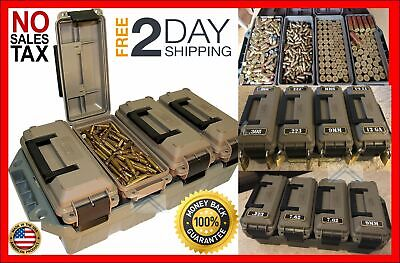 Tactical Ammo Can Multi Caliber Storage Bulk Ammunition Utility Crate Stackable