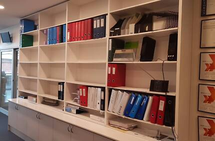 Office or Study Wall Unit Shelves and Cupboards