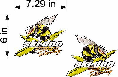 1 #G126 Ski-doo Skidoo Racing Team  Decal Sticker Fully Laminated Trailer Wall
