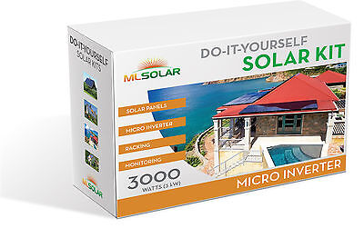 3Kw Complete Solar Kit 260W POLY Solar Panel Micro Inverters Rail-Less Racking