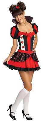 Queen of Hearts Alice Wonderland Fancy Dress Up Halloween Tween Teen Costume