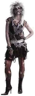 Zombie Punk Rock Star Ghost Dead Gothic Fancy Dress Up Halloween Adult - Adult Punk Zombie Kostüm