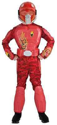 Halo Halloween Fire (Flame Warrior Army Military Red Halo Spartan Fancy Dress Halloween Child)