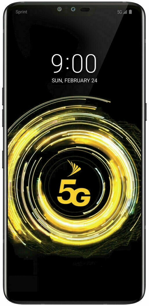 Android Phone - LG V50 ThinQ - 128GB -5G  Aurora Black (Sprint) B stock GSM Unlocked Read Note