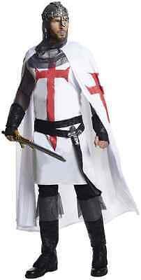 Holy Grail Costumes (Knight Holy Grail Medieval White Grand Heritage Halloween Deluxe Adult)