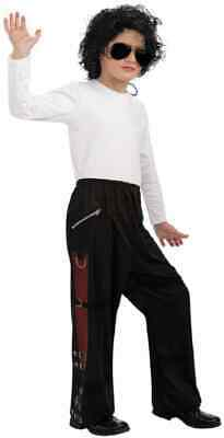 Michael Jackson Child's Value Costume Accessory Black Bad Buckle Pants, Large