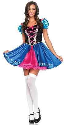 Princess Anna Costume Adults (Alpine Princess Anna Frozen Movie Fancy Dress Up Halloween Sexy Adult)