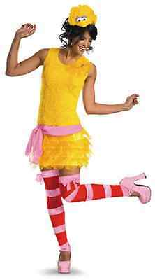 Big Bird Sassy Sesame Street Yellow Fancy Dress Up Halloween Sexy Adult Costume (Sesame Street Big Bird Halloween Costume)