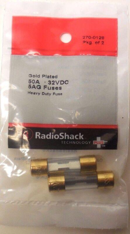 RADIO SHACK 50 AMP 32 VOLT 5AG FUSES-2 count new-270-0128