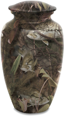 Bass Camo Adult Cremation Urn