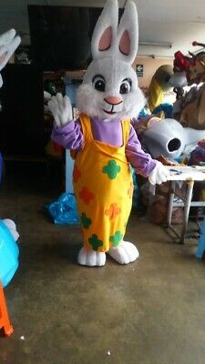 Easter Bunny Girl Mascot Costume Halloween Party Character Birthday Cosplay Adul ()