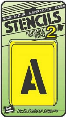 "Assorted 2"" Number & Letter Stencils by Hy Ko ST-2 NEW"