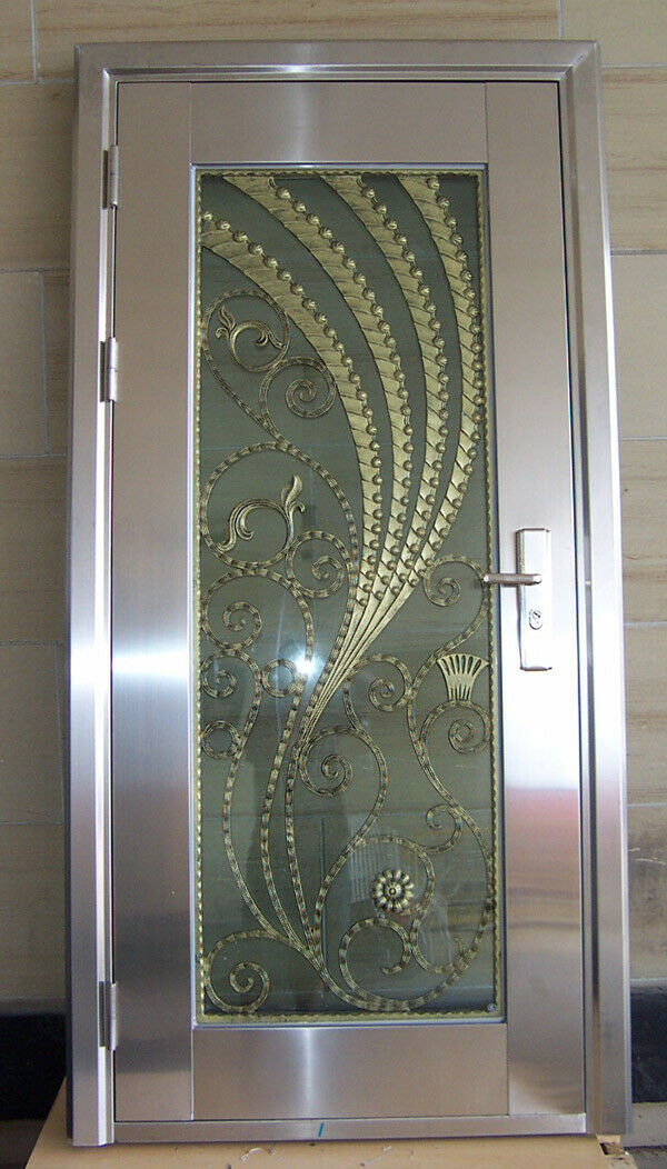 Modern Stainless Steel Entry Door..  Free Shipping!