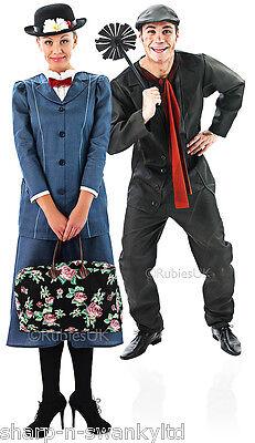 Paar Mary Poppins und Bert Viktorianisch Passend Kostüm Verkleidung - Mary Poppins Und Bert Kostüm