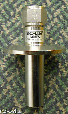 Broadley James Tube Adapter 4-18 Long With A 2 Ferrule 0.480 I.d.