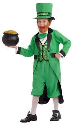 Mr. Leprechaun Irish St. Patrick's Day Green Fancy Dress Halloween Child Costume