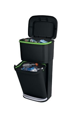 Rubbermaid Dustbin Trash can Double Decker 2-in-1 Recycling Modular Bin